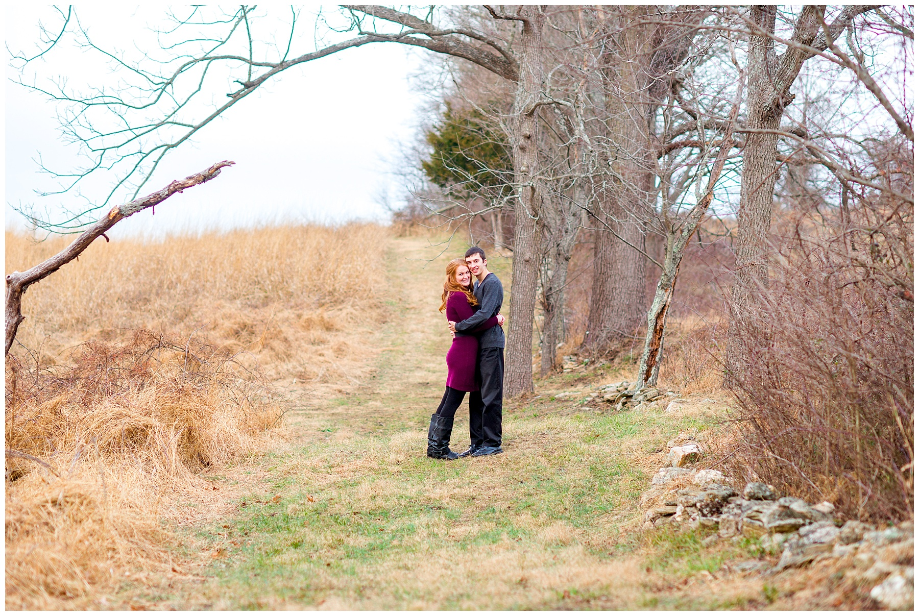 Winter Howard County Conservancy Engagement Photographer